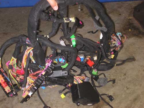 one of many wiring harnesses